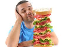 hlad, jedlo, potraviny, výživa, sendvič, šunka, pečivo