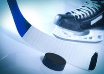 Hokej, korčule, hokejka, ilustračné foto