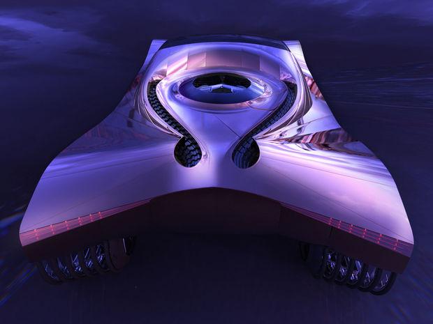 Štúdia World Thorium Fuel Concept predstavená v Chicagu však bola skôr dizajnérskou kreáciou, ako skutočným pojazdným laboratóriom.