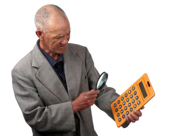 kalkulačka, dôchodok, dôchodca, peniaze