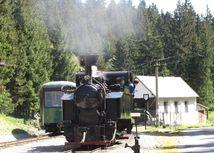 Spojazdnia úzkorozchodnú lesnú železnicu v Pribyline