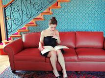 tapety, dáma, žena, obývačka, byt, dom, bývanie, izba