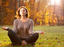 meditácia, lúka, les, relax