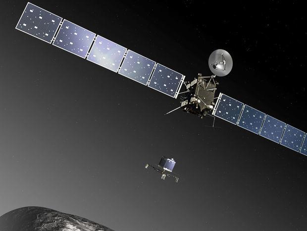 """Sonda Rosetta, respektíve jej """"dcérsky"""" modul Philae, má na kométe 67/P Čurjumov-Gerasimenko pristáť už v novembri tohto roka."""