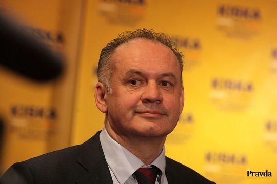 Druhý postupujúci kandidát do druhého kola prezidentských volieb Andrej Kiska.