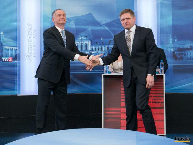 Andrej Kiska, Robert Fico, prezidentske volby 2014, duel TA3