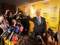 Andrej Kiska predstúpil pred svojich priaznivcov a novinárov.
