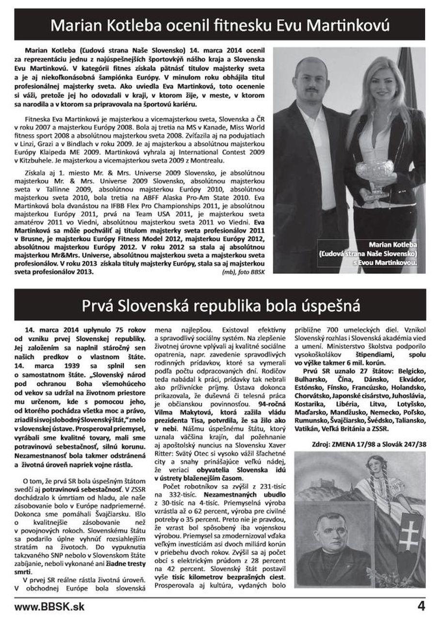 Náš kraj, časpis Banskobystrickej župy, 4. strana.