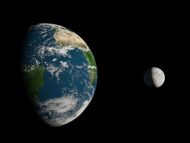 zem, mesiac