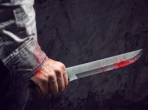 nôž, krv, zranenie