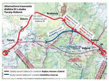Turany - Hubová, mapa