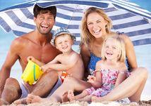 leto, slnko, dovolenka, more, pláž, slnečník, dovolenka, rodina
