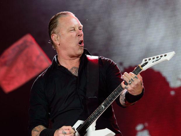 Britain Glastonbury, james Hetfield, Metallica