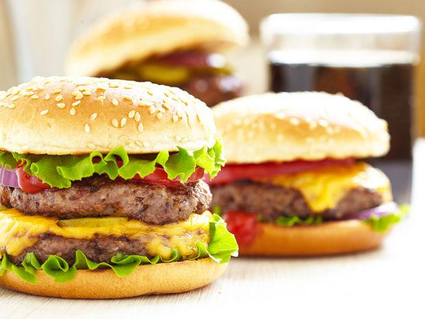fast-food, hamburger, jedlo,