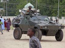 Nigéria, vojak, tank, Boko Haram,
