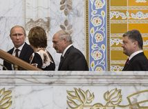 Putin, Ashtonová, Lukašenko, Porošenko