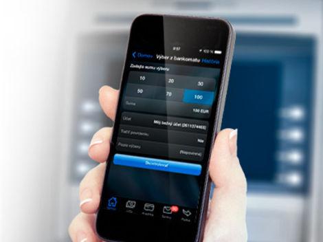 Vyberajte si hotovosť z bankomatu ako prví mobilom