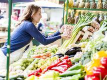 zelenina, nákup, ovocie, ananás, pór, paprika, mrkva, obchod, trh