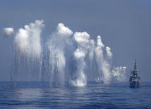 vojenské cvičenie, loď, more
