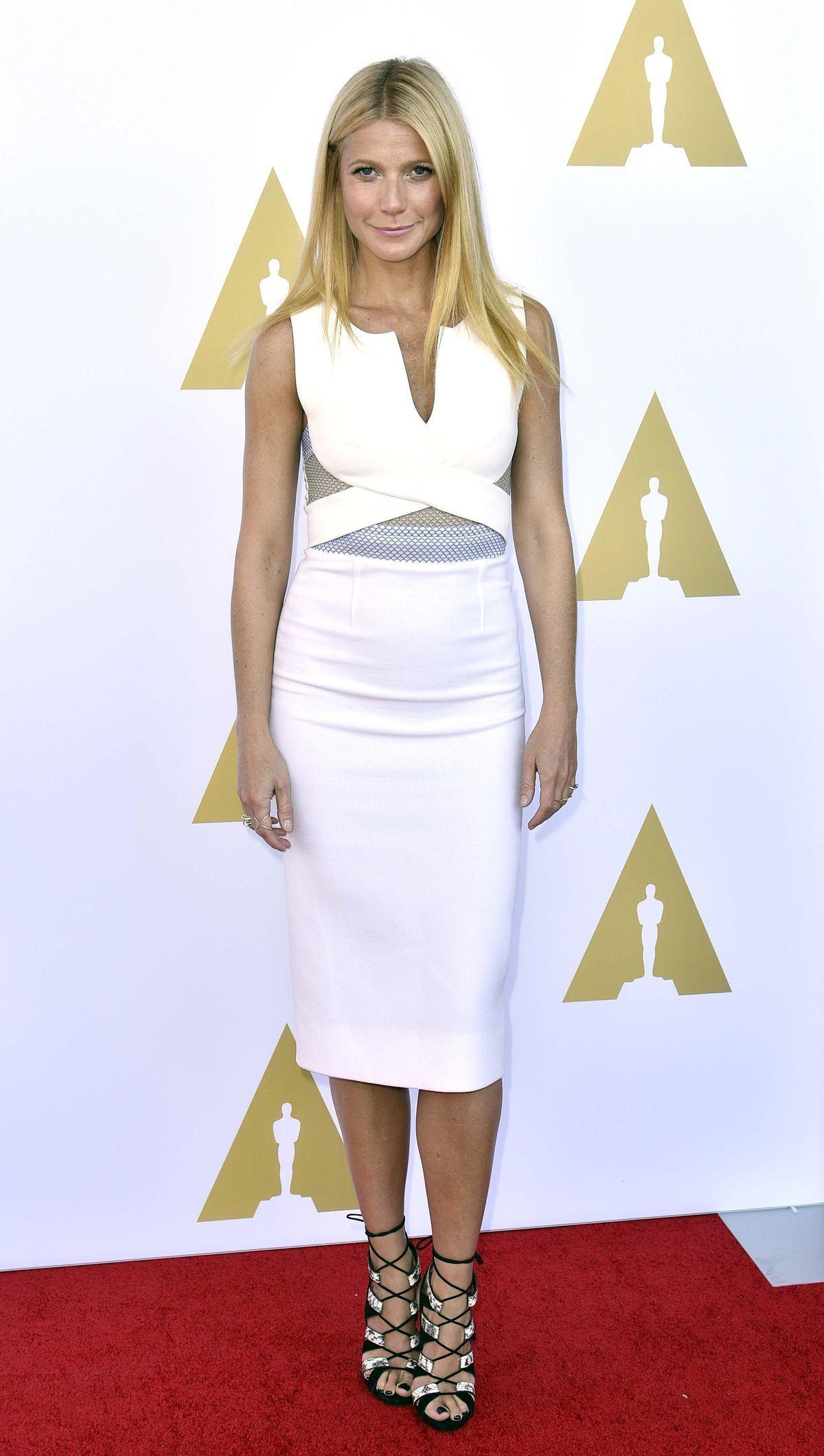 Gwyneth Paltrow  v Múzeu filmových umení.
