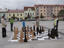 Zvolen, šach, námestie,