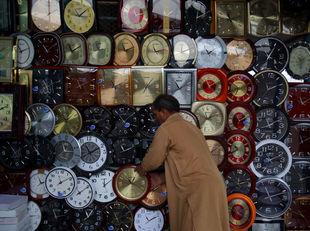 Pakistan, obchodník, hodiny, hodinárstvo