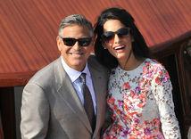 George Clooney a jeho manželka Amal Alamuddin