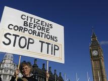 Británia, TTIP, Protest, dohoda, USA, EÚ, Londýn