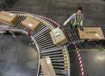 Amazon, pás, balíky