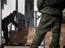 Ukrajina, Doneck, vojak, zbraň, zásoby