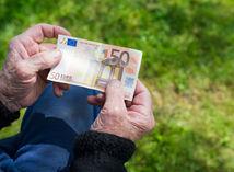 peniaze, dôchodok, euro