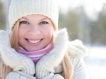 zima, žena, tvár, krása