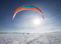 snowkiting, sneh, hory, snowboard, lyže,