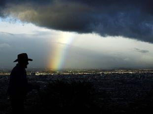 oblaky, dúha, San Jose