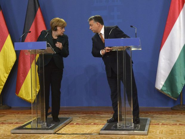 Angela Merkelová, Viktor Orbán