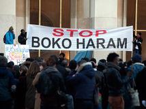 Boko Haram, Francúzsko, Paríž, transparent