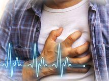 srdce, EKG, tep. tlak, infarkt, hrudník, bolesť