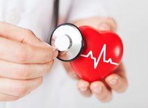 srdce, tlak, EKG, stetoskop