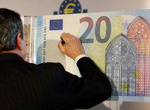 Mario Draghi, 20 eur, bankovka