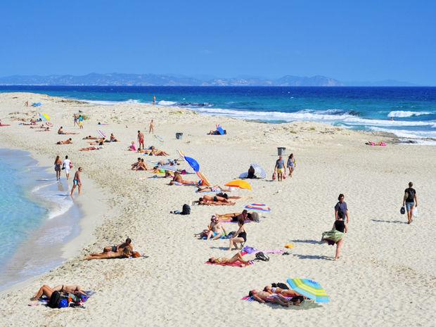 Playa de ses Illetes, Formentera, Španielsko