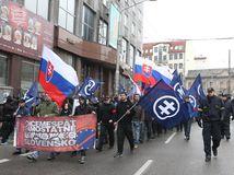 Pochod nacionalistov, neonacistov, Tiso, Bratislava, bez náckov, blokáda