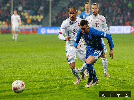 Slováci zdolali Čechov premiérovým gólom Dudu