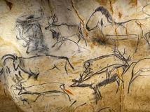 Jaskyňa, praveké maľby, Pont d'Arc, Vallon-Pont-d'Arc, Ardèche, Francúzsko, Chauvetova jaskyňa