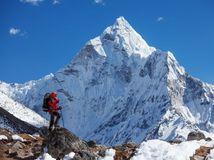Mount Everest, Himaláje, turista, Nepál, Khumbu, horolezec, sneh, hory,