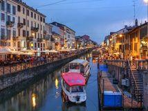 Naviglio Grande, Miláno, Taliansko