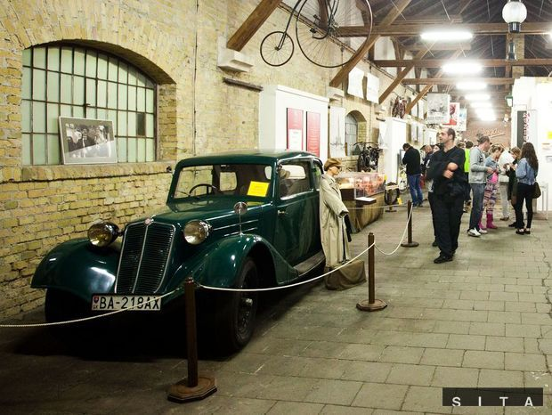 Slovenské technické múzeum - Múzeum dopravy Bratislava počas podujatia Noc múzeí a galérií.