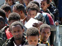 utečenci, afrika, eú