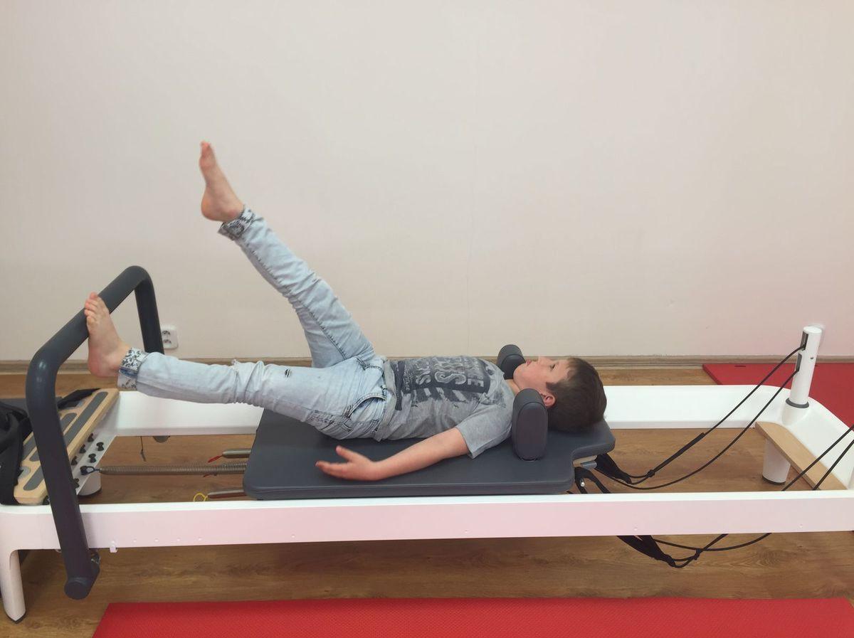 Pilatesov reformer je prispôsobený pre deti.