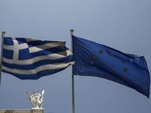 Grécko, vlajka, zástava, EÚ, Európska únia
