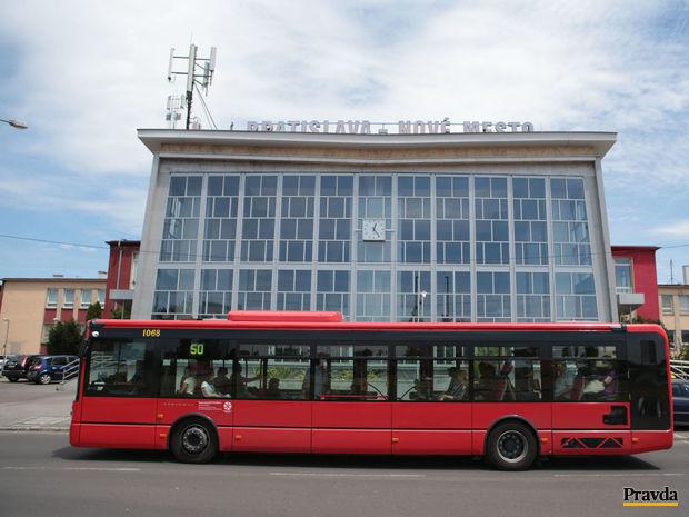 MHD, autobus, železničná stanica, Bratislava